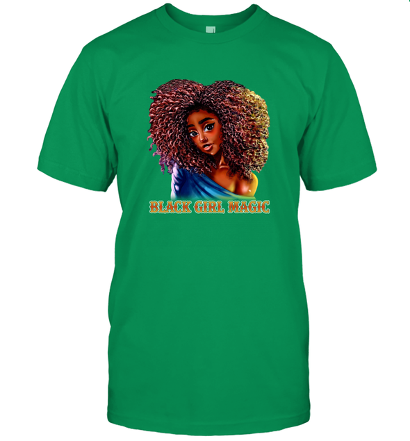 Black Girl Magic Art - Sexy Sweatie Cute Curls Girl T-Shirt