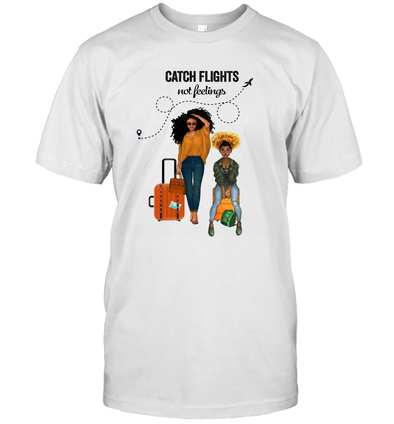 African American Magical Trip With Best FriendsCatch Flights Not Feelings 2 T-Shirt