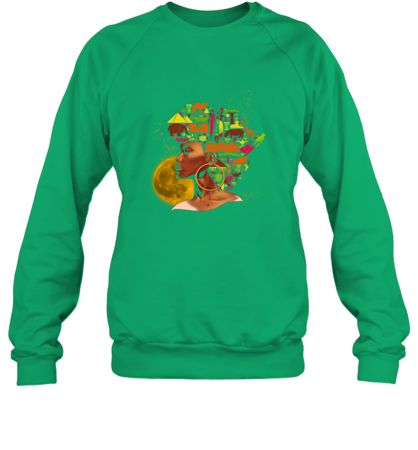African Women Art - Black African Women Colorful Art Sweatshirt