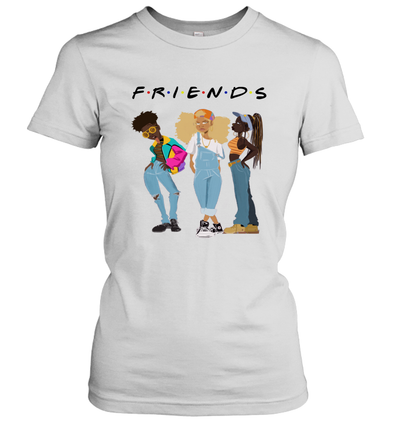 African American Black Girl Magic Friends Beauty Style Fashionable Model Women's T-Shirt