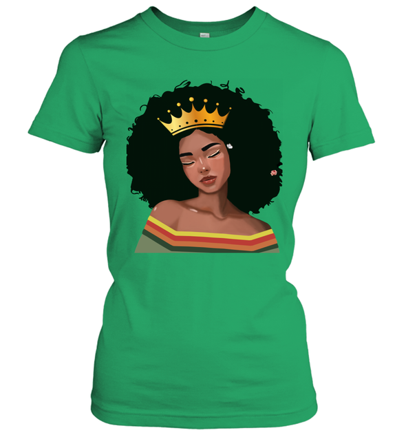 Black Girl Magic - Afro Melanin Poppin Queen Retro Women's T-Shirt