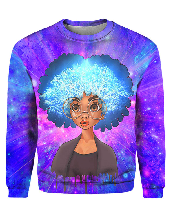 Afro Natural Brown Eyes Cute Girl All Over Apparel