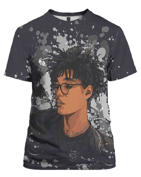 Cool Short Hair Black Boy All Over Apparel