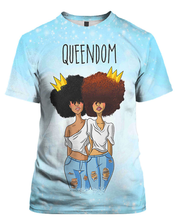 Friends Natural Hair QUEENDOM All Over Apparel