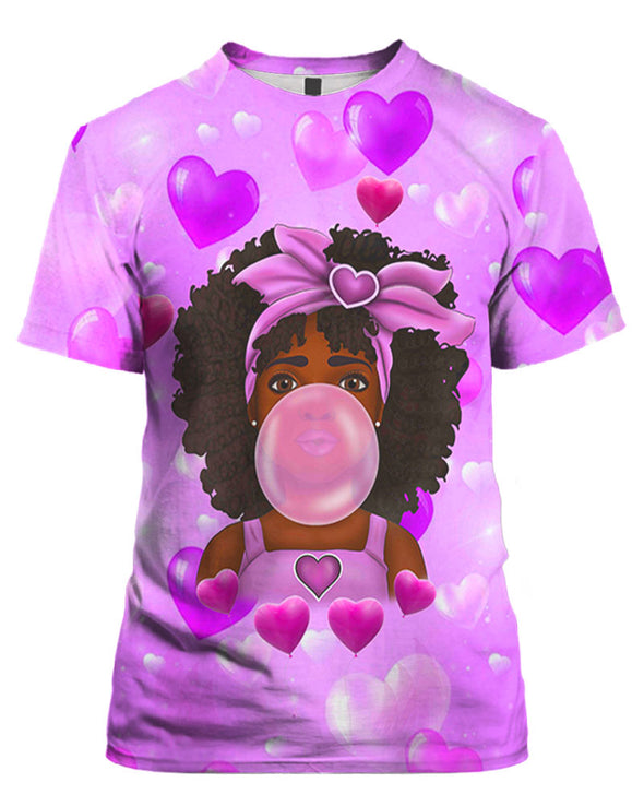 Melanin Poppin Bubble Cute Baby All Over Apparel