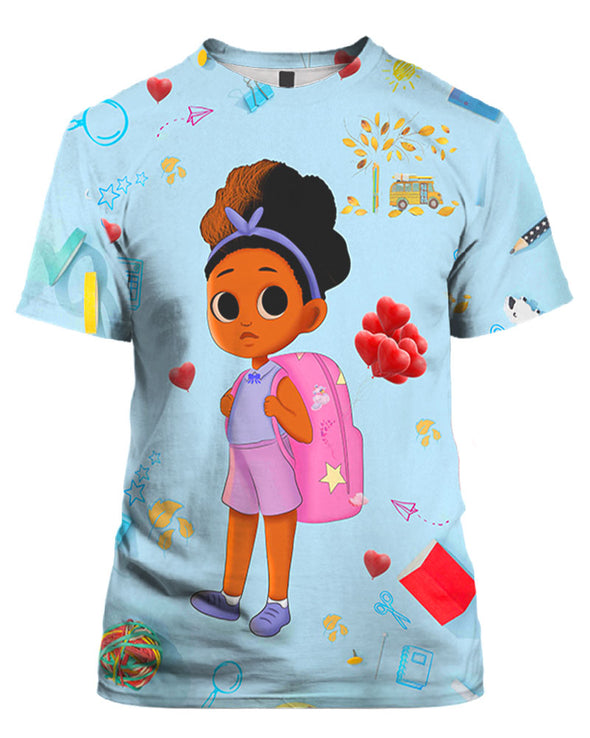 Back To School Time Cute Lovely Dress Girl All Over Apparel