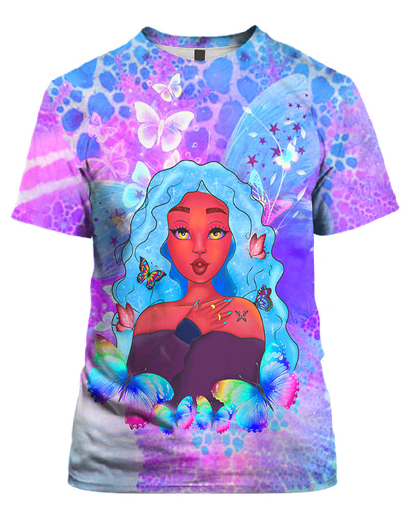 African Cute Princess Butterfly Style All Over Apparel