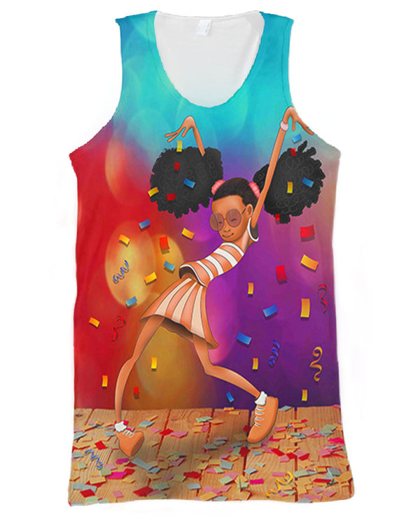 Afro Black Girl Excellent Performance All Over Apparel