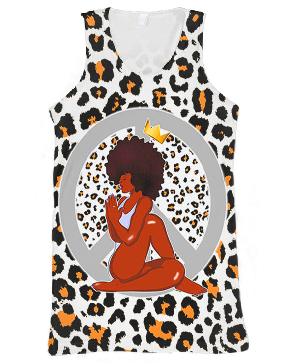 Black Women Yoga Peace  All Over Apparel