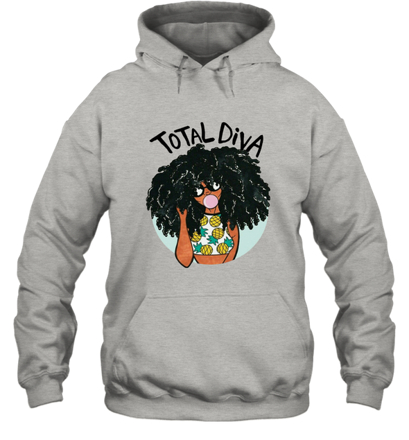 Magic Black Girl - Total Diva Afro Natural Pineapple Hoodie