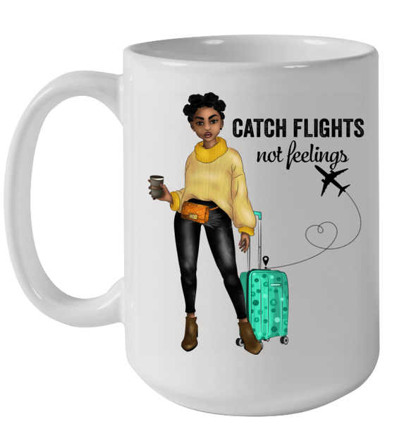 African American Dreadlock Girl Excellent Trip Catch Flights Not Feelings Mug