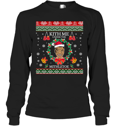 Mike Tyson Kith Me Under The Mithletoe Long Sleeve T-Shirt