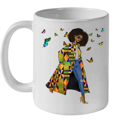 Black Women Art Keepin It Moving Natural Style Mug