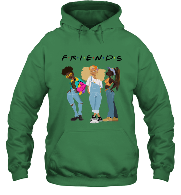 African American Black Girl Magic Friends Beauty Style Fashionable Model Hoodie