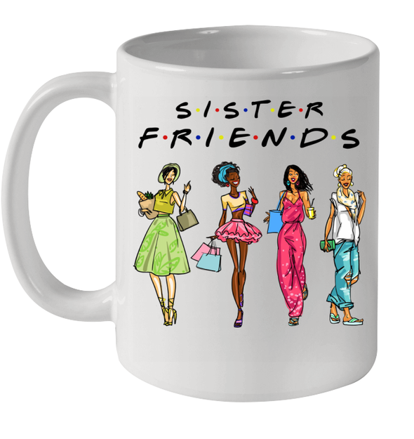 African American Art Sistas Friends Fashionable Always Sister Together Mug