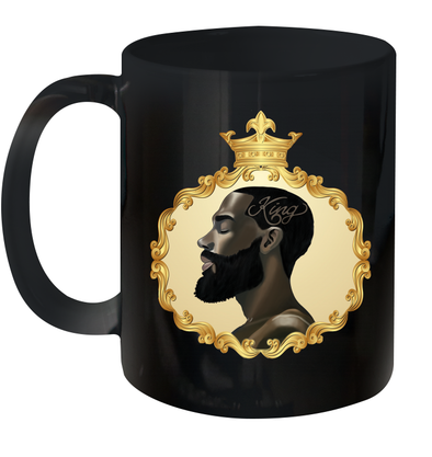African Strength Powerful Black King Black King Art Mug