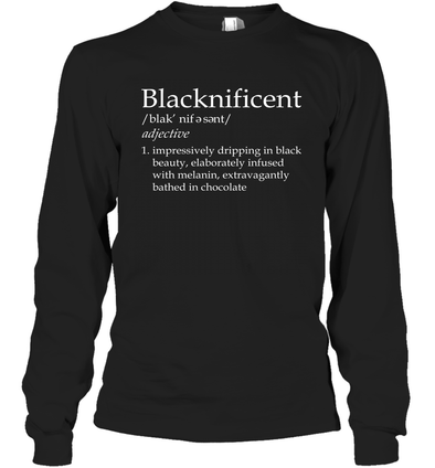 Blacknificent Definition Long Sleeve T-Shirt