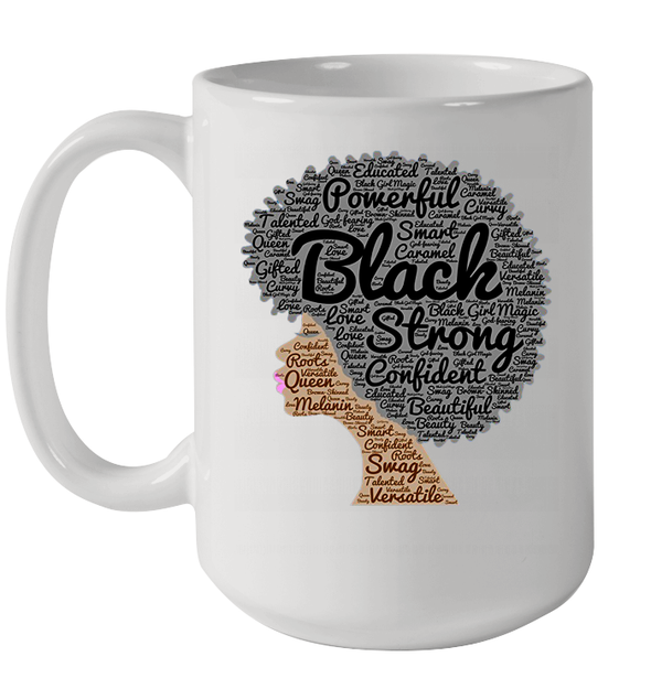 Afro Black Strong Naptural Hair Art Mug