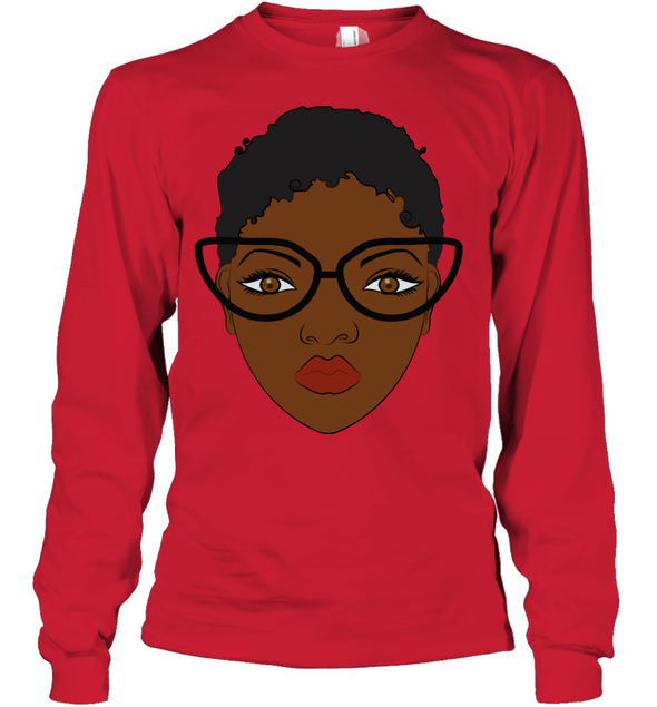 Natural Hair Journey Art - African Black Short Hair Youth Long Sleeve