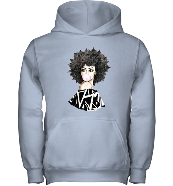 Black Women Art - Melanin Poppin Bubble Women Youth Hoodie