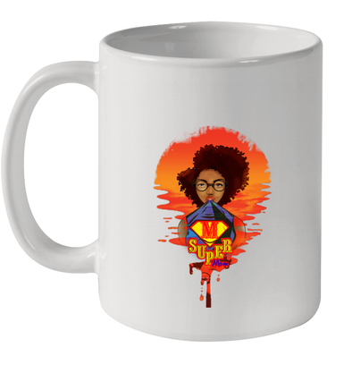 Afro Kinky Curly Super Mom Mother's Day Present Mug