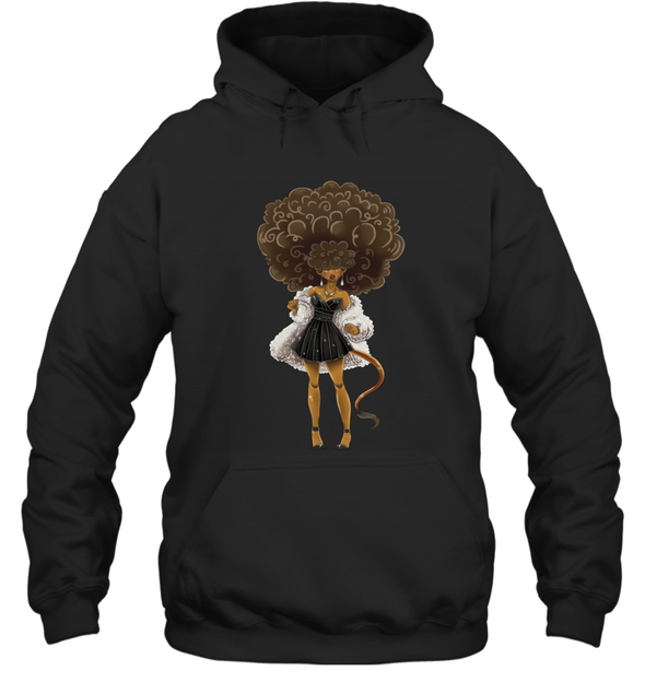 African American Hair Braiding Artwork Cosplay Afro Woman Hoodie