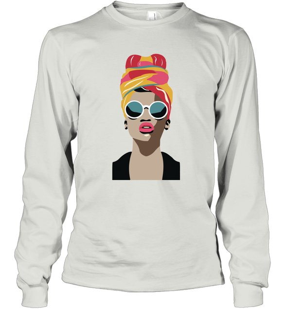 Black Girl Magic - Headwraps Hair Long Sleeve T-Shirt