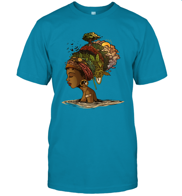 Afro Black Woman Headwrap Style African Natural Headwraps Women T-Shirt