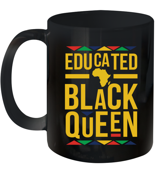 Educated History Black Queen Mug