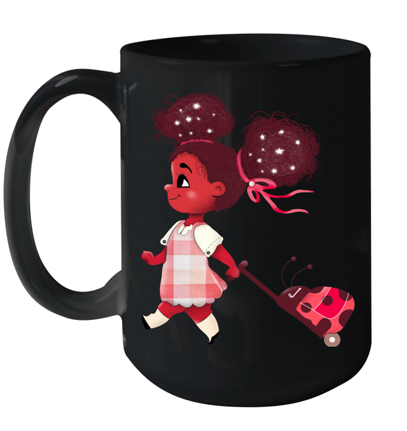 Back To School Afro Balloon Girl African American Cute Daughter Mug