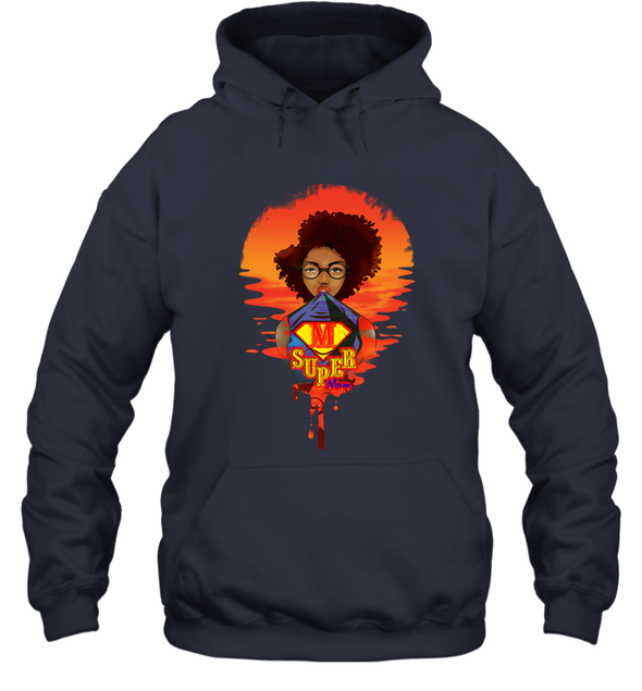 Mother's Day Present - Afro Kinky Curly Super Mom Hoodie