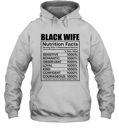 Black Wife Nutrition Facts Hoodie