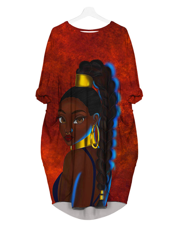 Black Girl Magic All Over Apparel African American Women Long Locs Hair Magic
