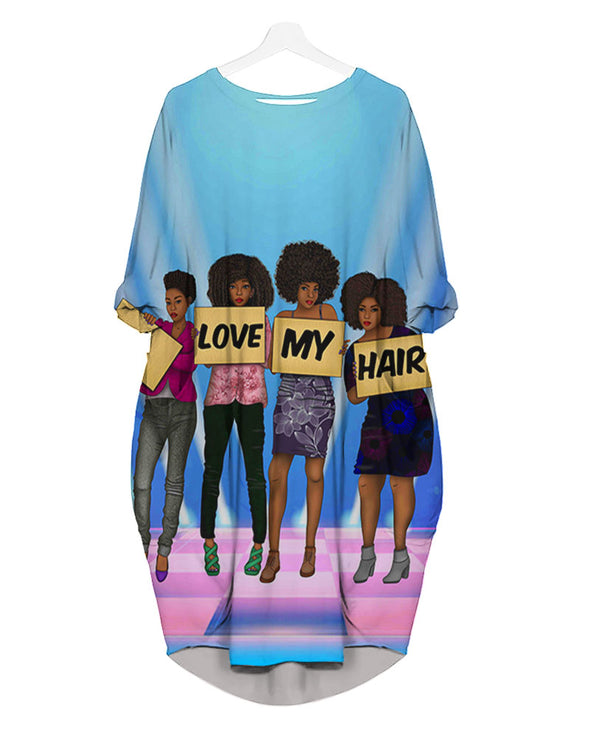 Pride Black Art Natural Black Women Friends I Love My Hair All Over Apparel