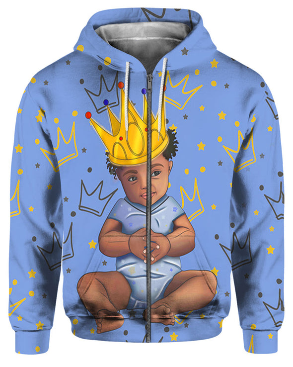 African Gold Generation Born To Be A King All Over Apparel