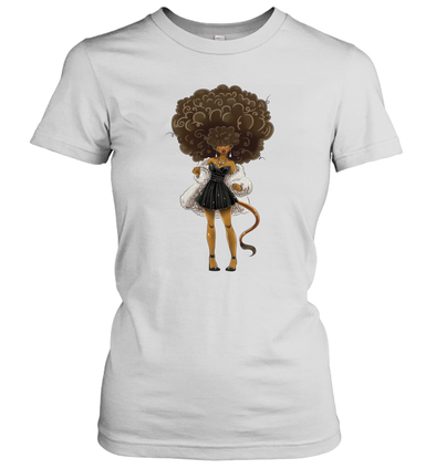 African American Hair Braiding Artwork Cosplay Afro Woman Women's T-Shirt