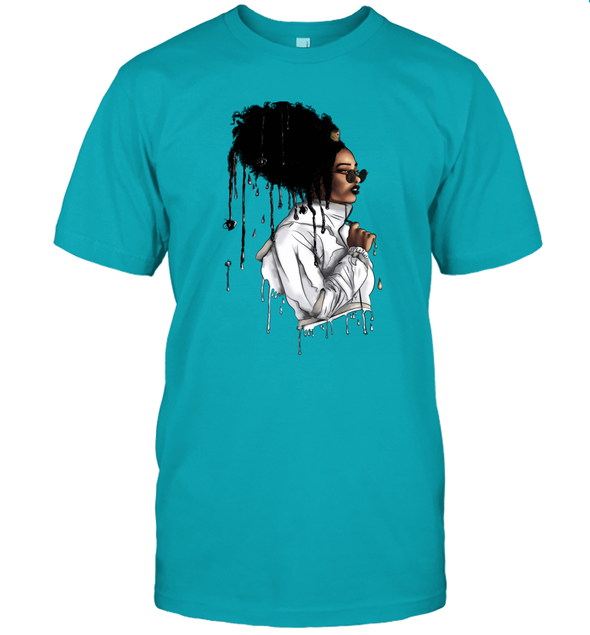 Afro African Headwrap Art - Headwrap Melting Style T-Shirt