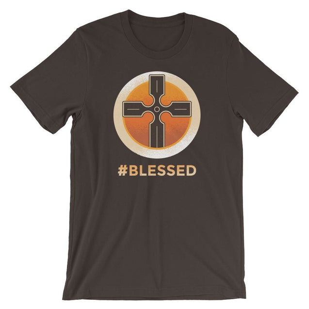 #blessed Shirt - Christian T-Shirt | Adult Unisex - Brown / S