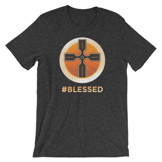 #blessed Shirt - Christian T-Shirt | Adult Unisex - Dark Grey Heather / Xs