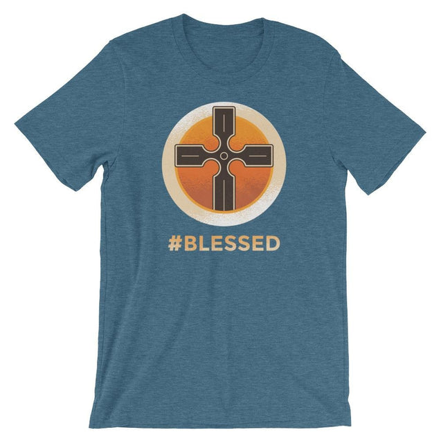 #blessed Shirt - Christian T-Shirt | Adult Unisex - Heather Deep Teal / S