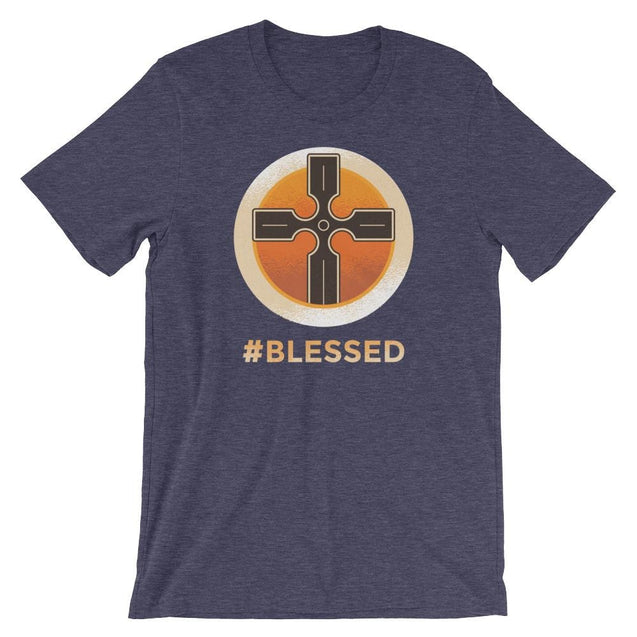 #blessed Shirt - Christian T-Shirt | Adult Unisex - Heather Midnight Navy / Xs