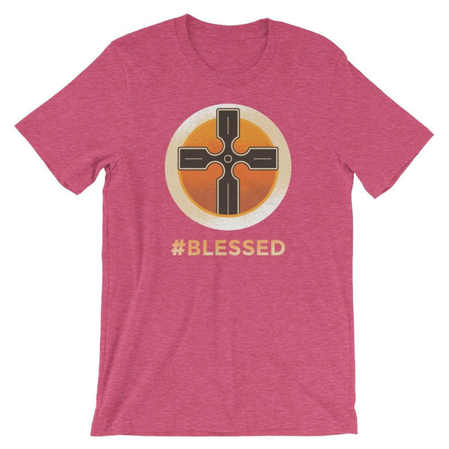 #blessed Shirt - Christian T-Shirt | Adult Unisex - Heather Raspberry / S