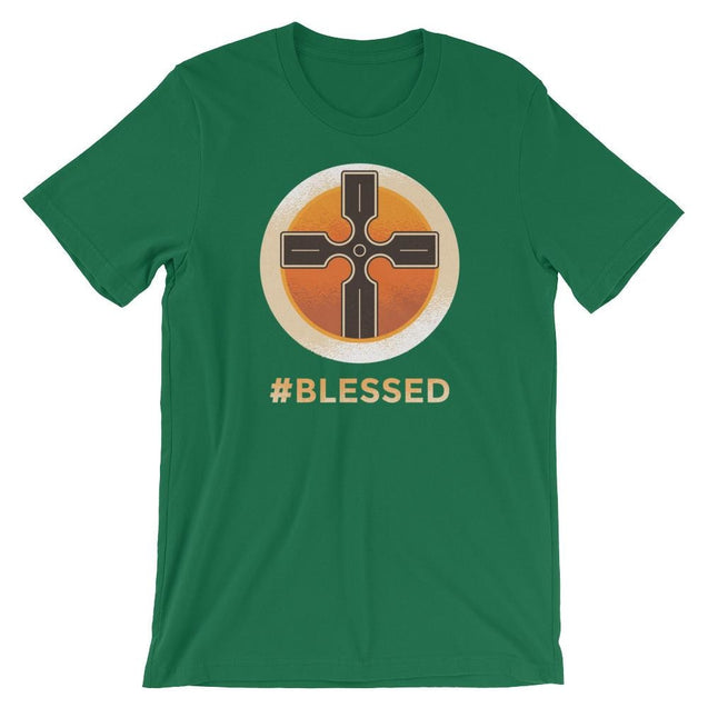 #blessed Shirt - Christian T-Shirt | Adult Unisex - Kelly / S