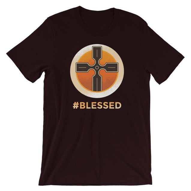 #blessed Shirt - Christian T-Shirt | Adult Unisex - Oxblood Black / S