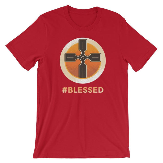 #blessed Shirt - Christian T-Shirt | Adult Unisex - Red / S