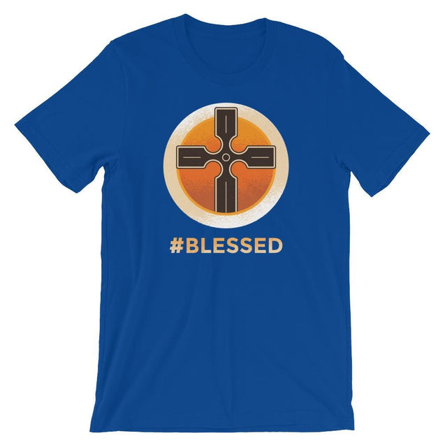 #blessed Shirt - Christian T-Shirt | Adult Unisex - True Royal / S