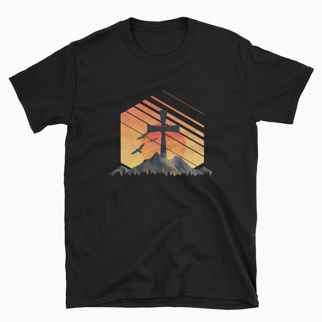 Christian Sunrise - Christian T-Shirt | Adult Unisex - Black / S
