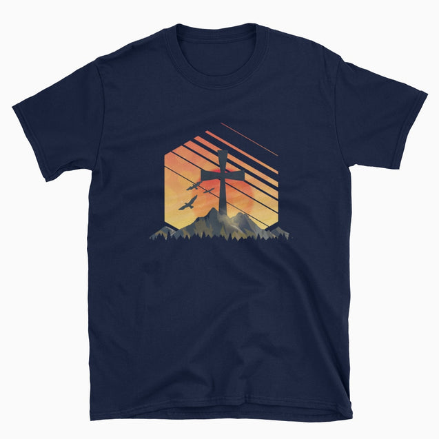 Christian Sunrise - Christian T-Shirt | Adult Unisex - Navy / S