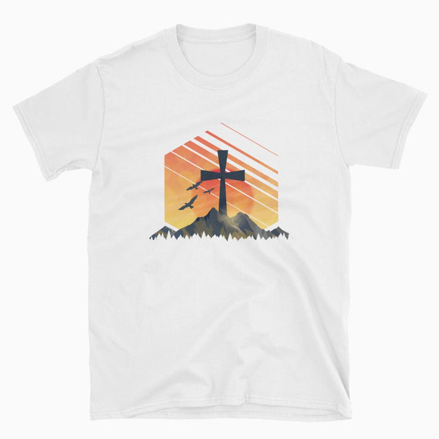 Christian Sunrise - Christian T-Shirt | Adult Unisex - White / S