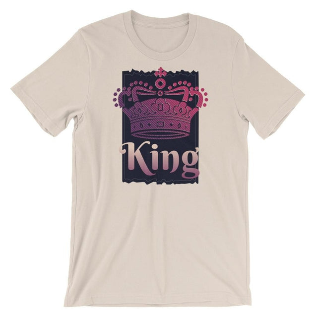 King Of Kings Crown And Cross - Christian T-Shirt | Adult Unisex - Soft Cream / S
